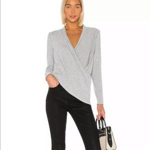 NWT 1. State Silver Heather Cozy Knit Top Medium